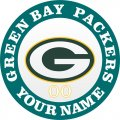 Green Bay Packers Customized Logo iron on sticker