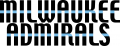 Milwaukee Admirals 2006 07-2014 15 Wordmark Logo iron on sticker