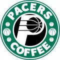 Indiana Pacers Starbucks Coffee Logo iron on sticker
