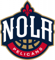 New Orleans Pelicans 2013-2014 Pres Secondary Logo iron on sticker