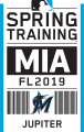 Miami Marlins 2019 Event Logo iron on sticker