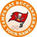 Tampa Bay Buccaneers Customized Logo iron on sticker