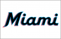 Miami Marlins 2019-Pres Jersey Logo 02 iron on sticker
