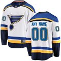 St. Louis Blues Custom Letter and Number Kits for White Jersey