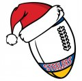Pittsburgh Steelers Football Christmas hat logo iron on sticker