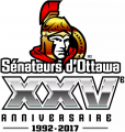Ottawa Senators 2016 17 Anniversary Logo decal sticker