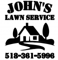 JOHN LAWN SERVICE PREMIUM IRON ON STICKER