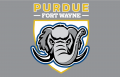 Purdue Fort Wayne Mastodons 2018-Pres Primary Dark Logo iron on sticker