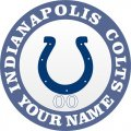 Indianapolis Colts Customized Logo iron on sticker