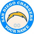 San Diego Chargers Customized Logo iron on sticker