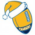 San Diego Chargers Football Christmas hat logo iron on sticker