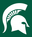 Michigan State Spartans 1977-Pres Primary Dark Logo iron on sticker
