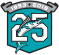Miami Marlins 2018 Anniversary Logo iron on sticker