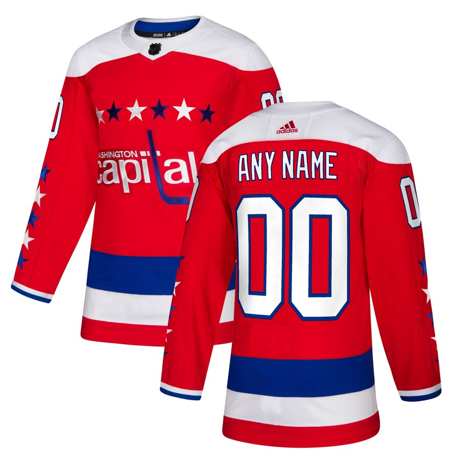 Washington Capitals Custom Letter and Number Kits for Red Jersey